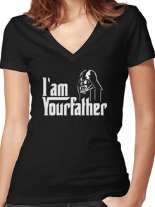 I AM YOUR FATHER ! Women's Fitted V-Neck T-Shirt