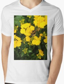 Bumble Bee In Yellow Flowers Mens V-Neck T-Shirt