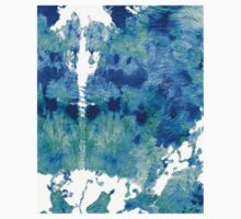 Blue And Aqua Abstract - Wishing Well - Sharon Cummings Baby Tee