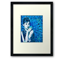 Bl'Audrey Hepburn Framed Print