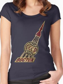 Boctok CCCP Rocket Women's Fitted Scoop T-Shirt