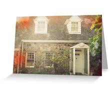 Vintage Stone Cottage Photo- Lomo effects Greeting Card
