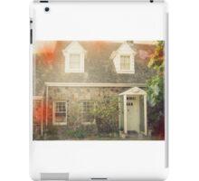 Vintage Stone Cottage Photo- Lomo effects iPad Case/Skin