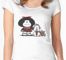 Mafalda & Brother's Women's Fitted Scoop T-Shirt