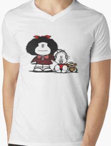 Mafalda & Brother's Mens V-Neck T-Shirt