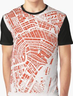 Amsterdam city map classic Graphic T-Shirt