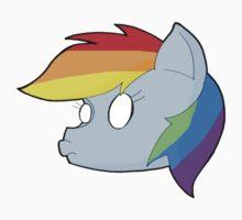 Rainbowdash inspired chibi style Kids Tee