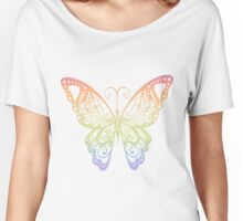 Rainbow Butterfly Women's Relaxed Fit T-Shirt