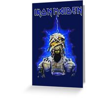 IRON MAIDEN BLUE Greeting Card