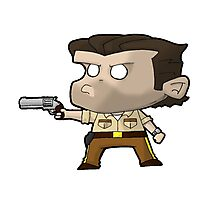 TWD Rick Grimes chibi Photographic Print
