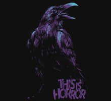 This Is Horror Classic Purple on Black Raven Unisex T-Shirt