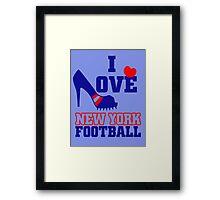 I love New york Football Framed Print
