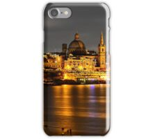 Valletta panorama at night iPhone Case/Skin