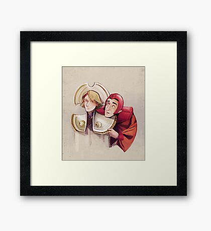 Romana and Brax Framed Print