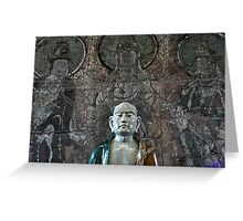 EJK - Monk Statue Greeting Card