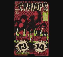 The Cramps (Seattle & Portland shows) Vintage 2 Kids Tee