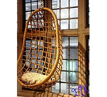 EJK - Rocking Window Chair Photographic Print