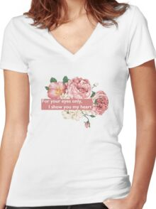 If I Could Fly™ Lyrics Women's Fitted V-Neck T-Shirt