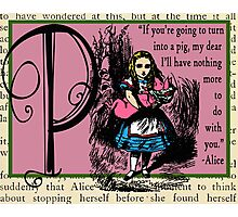 Alice in Wonderland and Through the Looking Glass Alphabet P Photographic Print