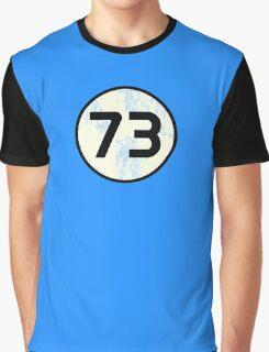 Sheldon Cooper - Distressed Vanilla Cream Circle 73 Black Standard Graphic T-Shirt