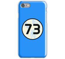 Sheldon Cooper - Distressed Vanilla Cream Circle 73 Black Standard iPhone Case/Skin