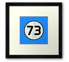 Sheldon Cooper - Distressed Vanilla Cream Circle 73 Black Standard Framed Print