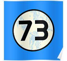 Sheldon Cooper - Distressed Vanilla Cream Circle 73 Black Standard Poster