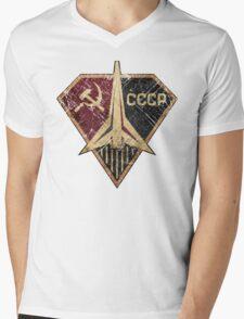 CCCP Rocket Hero Mens V-Neck T-Shirt
