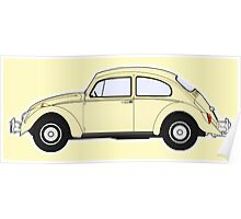 VW, Volkswagen, Beetle, Bug, Motor, Car, Cream Poster