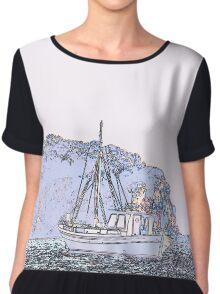 Sailing on the sea Chiffon Top