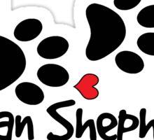DOG PAWS LOVE GERMAN SHEPHERD DOG PAW I LOVE MY DOG PET PETS PUPPY STICKER STICKERS DECAL DECALS Sticker