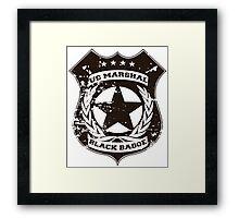 Wynonna Earp- Black Badge Division Framed Print