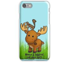 Moose and Squirrel iPhone Case/Skin
