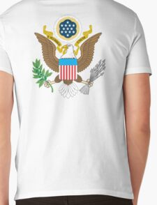 American Eagle, Seal, Patriot,  War, Flag, America, Bald Eagle, USA, Bird of Prey Mens V-Neck T-Shirt