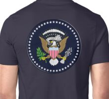 American, SEAL, Eagle, Circular, Patriot,  War, Flag, America, Bald Eagle, USA, Bird of Prey Unisex T-Shirt