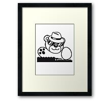 mischpult celebrate dj party music hat hang club disco plate ribbon cool teddy bear sweet Framed Print