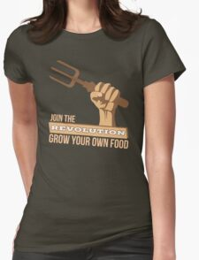 Gardening Revolution Grow Your Own Food T Shirt Womens Fitted T-Shirt