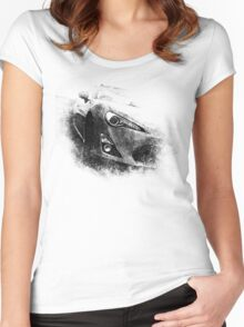 Grungy ZN6 Face Women's Fitted Scoop T-Shirt