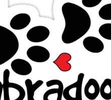 LABRADOODLE DOG PAWS LOVE LABRADOODLES DOG PAW I LOVE MY DOG PET PETS PUPPY STICKER STICKERS DECAL DECALS Sticker