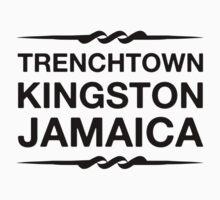 Trenchtown Kingston Jamaica (Black) Kids Tee