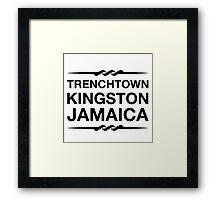 Trenchtown Kingston Jamaica (Black) Framed Print