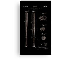 Baseball Bat Patent 1939 Canvas Print