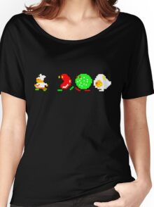 BurgerTime Retro Chase Graphic Women's Relaxed Fit T-Shirt