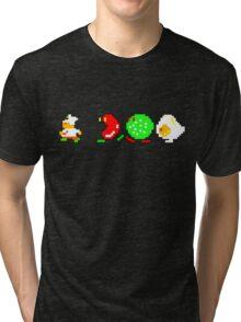 BurgerTime Retro Chase Graphic Tri-blend T-Shirt