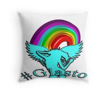 Glastonbury 2016: Rainbow - Unigrid Wings Solid Throw Pillow