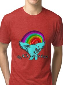Glastonbury 2016: Rainbow - Unigrid Wings Solid Tri-blend T-Shirt