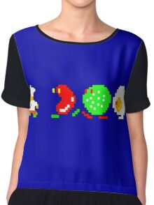 BurgerTime Retro Chase Graphic Chiffon Top