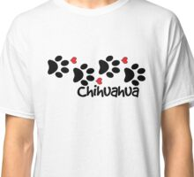 DOG PAWS LOVE CHIHUAHUA DOG PAW I LOVE MY CHIHUAHUAS DOG PET PETS PUPPY STICKER STICKERS DECAL DECALS Classic T-Shirt