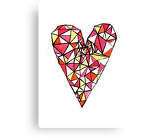 Graphic Heart Canvas Print