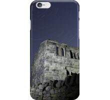 Star trails over a ruined farm  iPhone Case/Skin